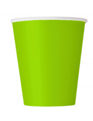 14 Gobelets en carton vert pomme 270 ml