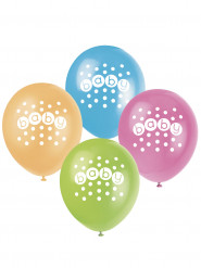 8 Ballons en latex pastel Baby Shower
