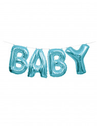 Guirlande ballon aluminium baby bleu