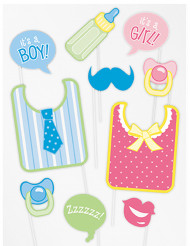 Kit 10 accessoires photobooth baby shower