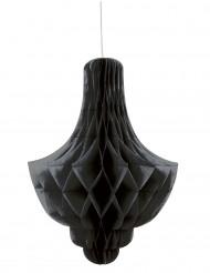 Décoration alvéolée à suspendre chandelier noir