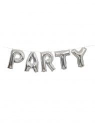 Ballons aluminium lettres Party argent