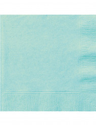 20 Serviettes en papier menthe 33 x 33 cm