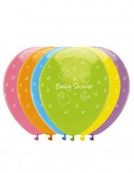 6 Ballons en latex Baby shower