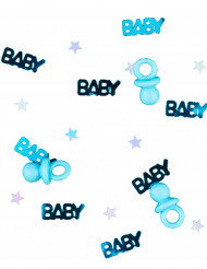 Confettis tétine baby bleu 14 g