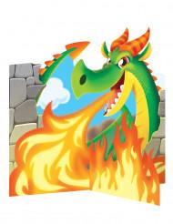 Centre de table Dragon 23 x 23 cm