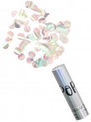 Canon à confettis iridescents