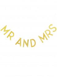 Guirlande Mr & Mrs or