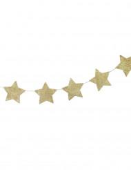Guirlande à suspendre étoile or 1.2 mètres