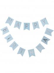 Guirlande Happy Birthday bleu 2,5 m