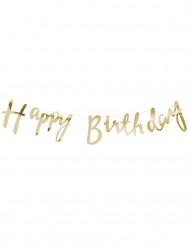 Guirlande Happy Birthday or 1,5 mètres