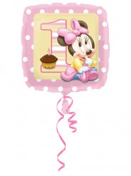 Ballon aluminium 1er anniversaire bébé Minnie™ 43 cm