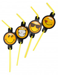 8 Pailles Smiley Emoticons ™