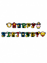 Guirlande Happy birthday Smiley Emoticons™ 193 cm