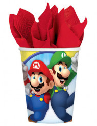 8 Gobelets en carton Super Mario ™ 266 ml