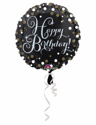 Ballon aluminium Happy Birthday scintillant 43 cm