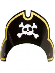 8 Chapeaux de pirate en carton