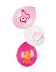 6 Ballons latex Nuage rose 25 cm