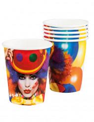 6 Gobelets Clown party 25 cl