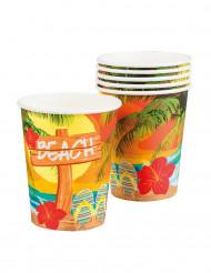 6 Gobelets en carton Beach party 25 cl