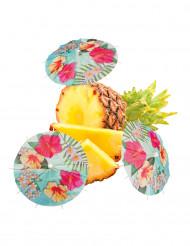 6 Ombrelles à cocktails Hawaii party 18 cm