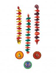3 Décorations à suspendre Indiens 60 cm