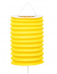 12 Lampions jaunes en papier 20 cm