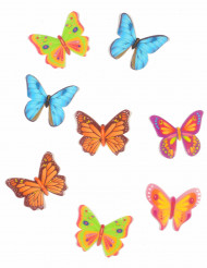 8 Décorations pour gâteau papillons azyme 4 cm