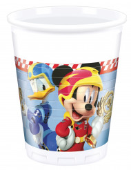 8 Gobelets en plastique Mickey Racing™ 200 ml
