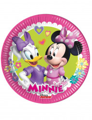 8 Petites assiettes Minnie Happy™ 19 cm