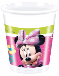 8 Gobelets en plastique Minnie Happy™ 200 ml
