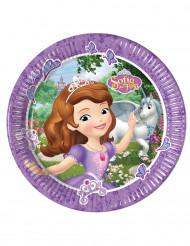 8 Assiettes en carton Princesse Sofia et la licorne™ 23 cm