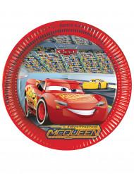 8 Assiettes en carton FSC Cars 3™ 23 cm