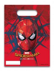 6 Sacs cadeaux Spiderman Homecoming™ 16 x 23 cm