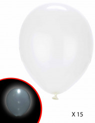15 Ballons LED blancs Illooms ®
