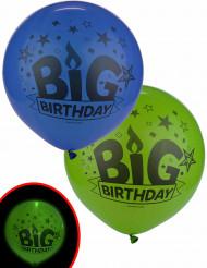 2 Ballons LED Big Birthday Illooms ® 60 cm