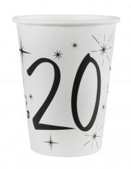 10 Gobelets en carton âge 20 ans 200 ml