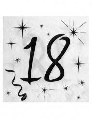 20 Serviettes en papier âge 18 ans 33 x 33cm
