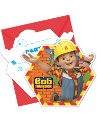 6 Cartes d'invitation et enveloppes Bob the builder ™