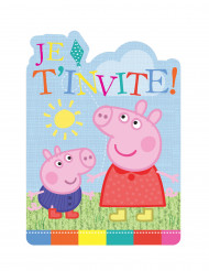 6 Cartes d'invitation Peppa Pig ™