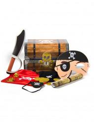 Coffre au trésor Pirate avec accessoires