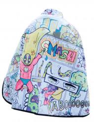 Cape lavable réversible toile d'araignée super-héros à colorier garçon