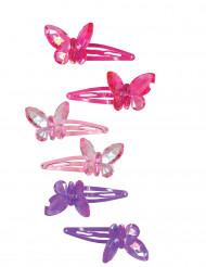 2 Barrettes papillon fille