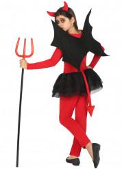Déguisement démon rouge et noir fille Halloween