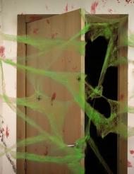 Toile d'araignée verte avec araignées 20 g Halloween