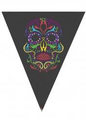 Guirlande fanions squelette coloré Halloween 190 cm