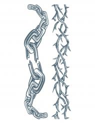 Tatouage ephémere corps chaînes adulte