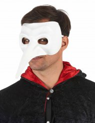 Masque long nez blanc adulte luxe