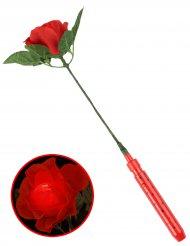 Rose rouge lumineuse 35 cm
