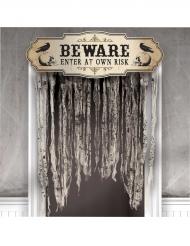Rideau de porte tête de mort Halloween 140 X 100 cm